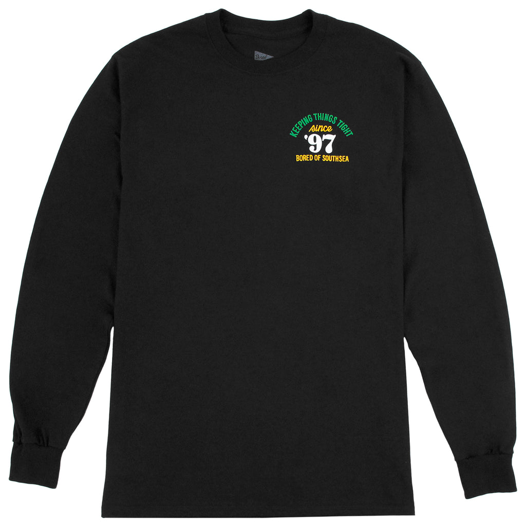 Bored of Southsea Keeping Things Tight L/S T Shirt in Black