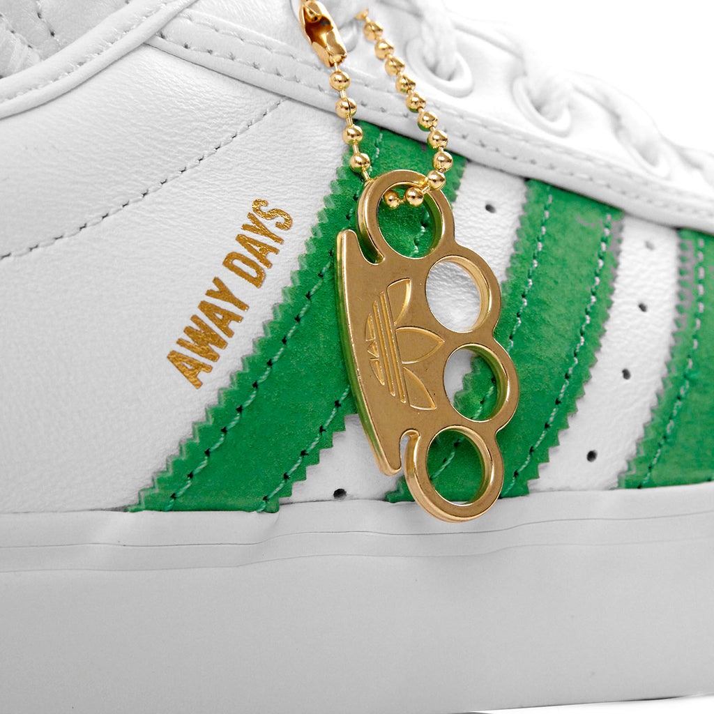 "Adidas Skateboarding Adi Ease Premiere ""Away Days"" Shoes in White / Lime / Gum - Detail 2"