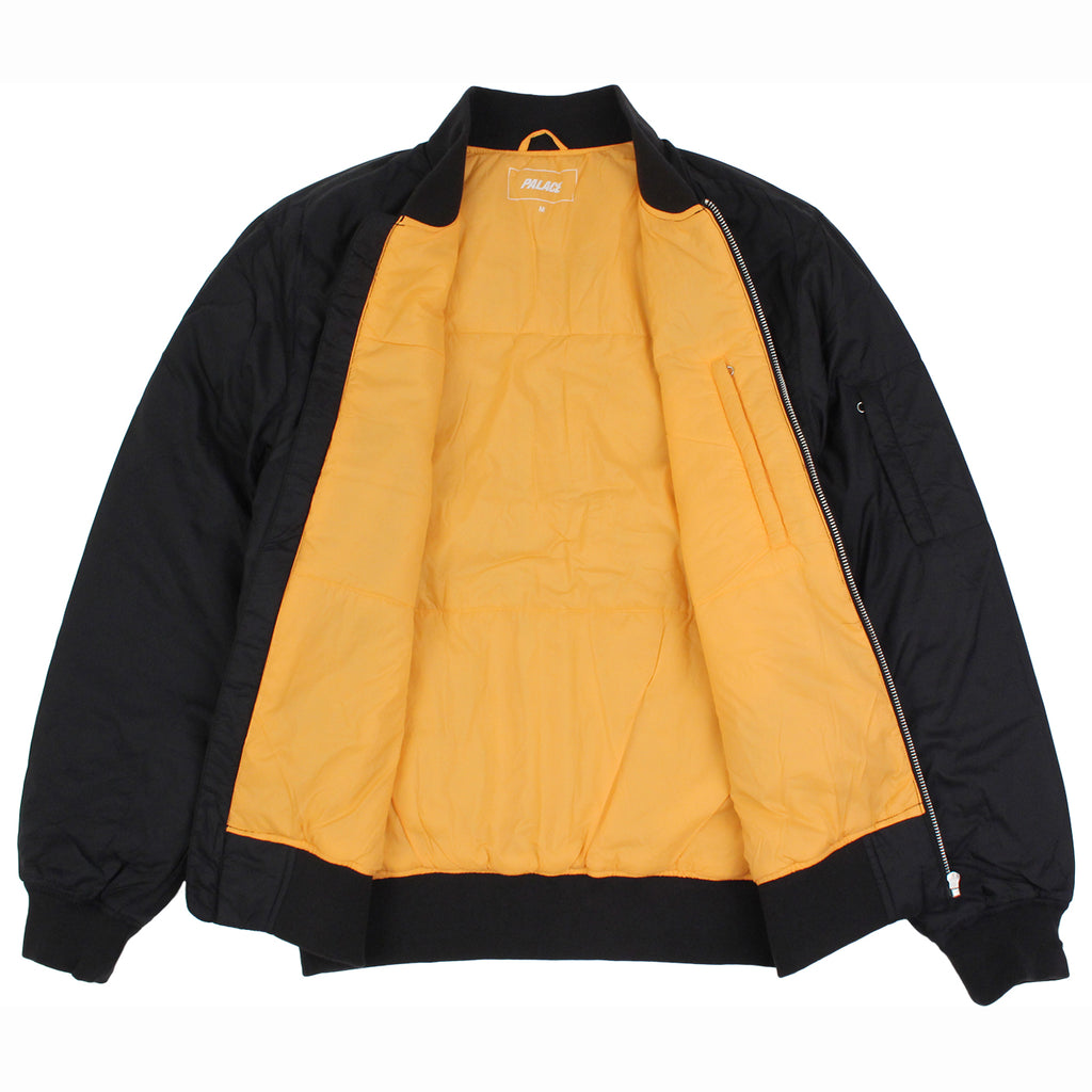 Palace Thinsulate Bomber Jacket in Anthracite - Open