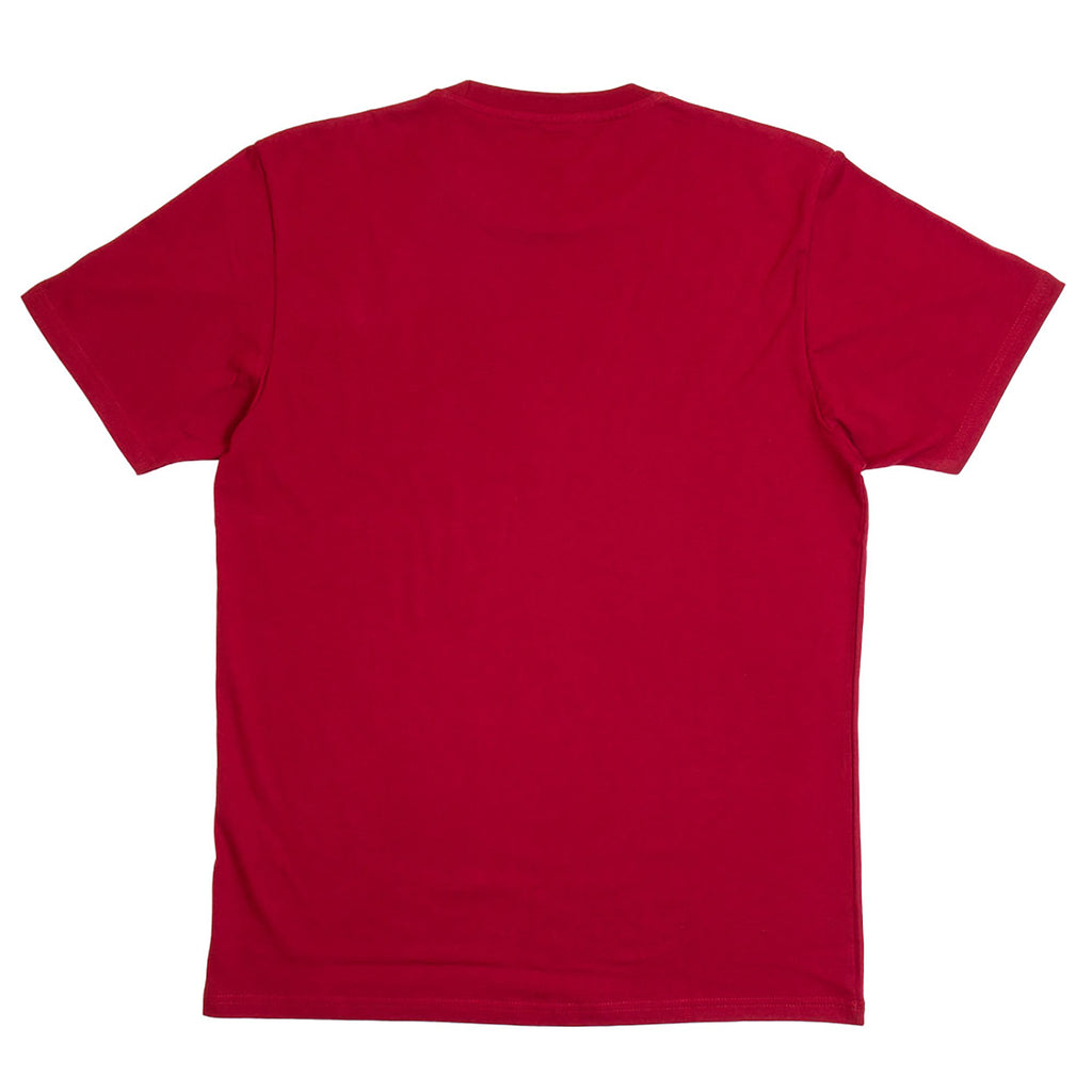 Polar Skate Co No Comply T Shirt in Red Wine / White - Back