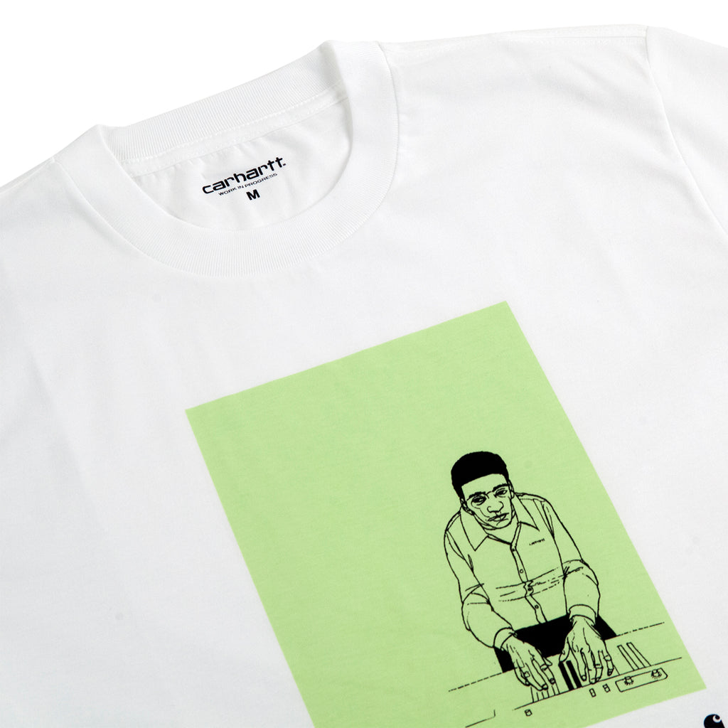 Carhartt WIP 1999 Ad Evan Hecox T Shirt in White - Detail