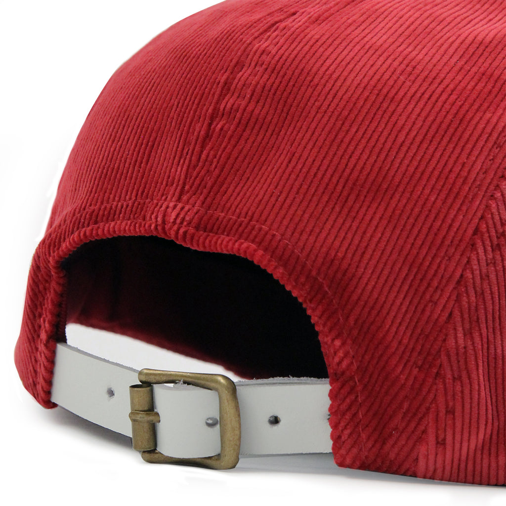 Helas Sunday 5 Panel Cap in Burgundy - Strap
