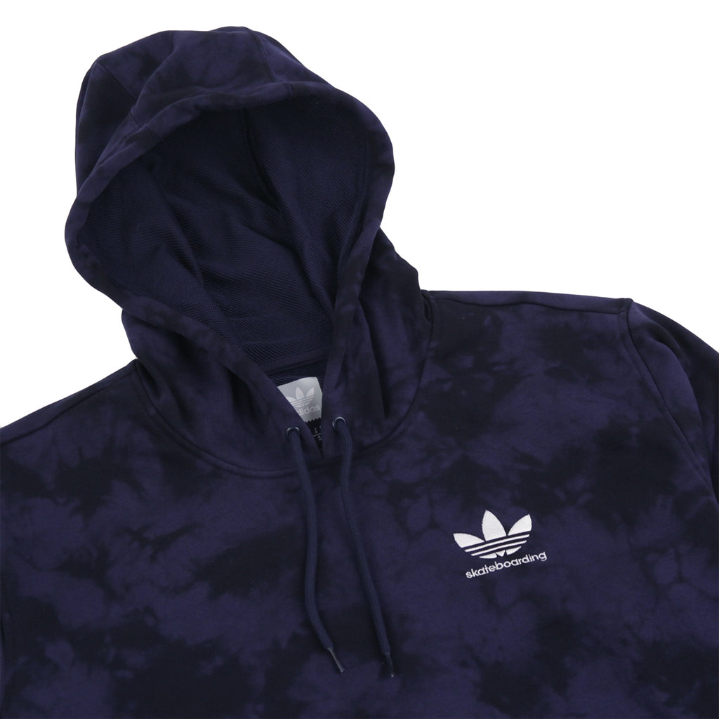 Adidas Skateboarding Clima 2.0 Crystal Wash Hoodie in Night Indigo / Black - Detail