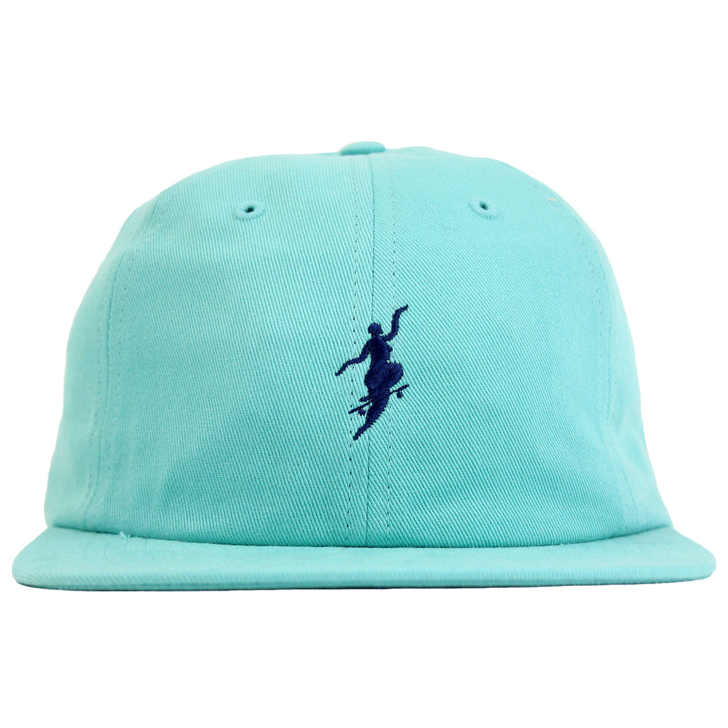 Polar Skate Co No Comply Cap in Pastel Green / Navy - Front