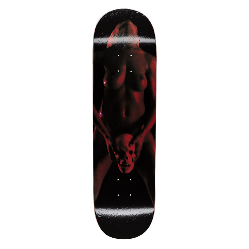 Fucking Awesome Red Skull Woman Skateboard Deck in 8.38""