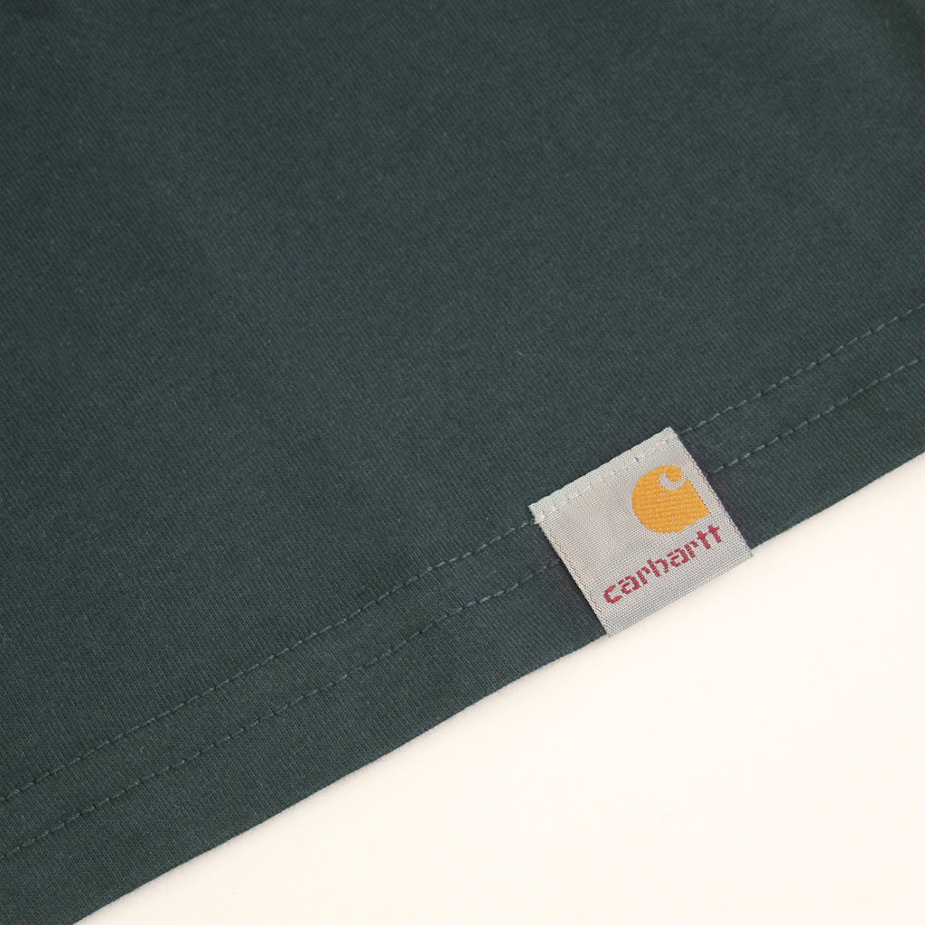 Carhartt WIP Shifted C T Shirt in Dark Petrol / Severn - Flag label