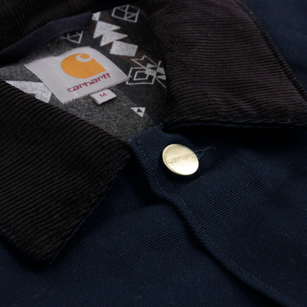 Carhartt Michigan Chore Coat in Navy Rigid - Button