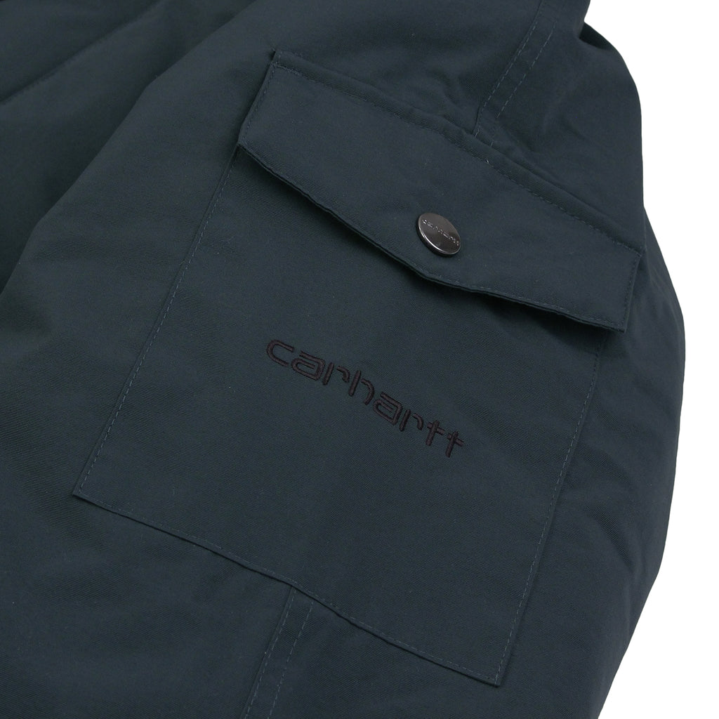 Carhartt Anchorage Parka Jacket - Dark Petrol / Black - Arm Pocket