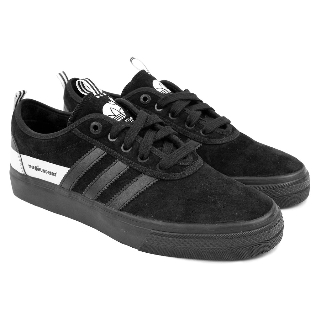 Adidas Skateboarding Adi Ease x Hundreds Shoes in Core Black/FTW White - Pair
