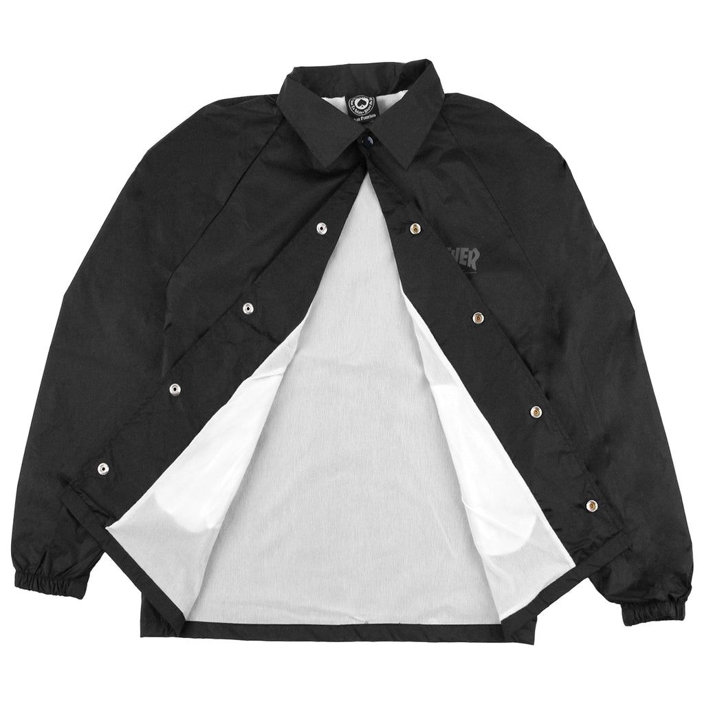 Thrasher Skate And Destroy Coaches Jacket in Black - Open