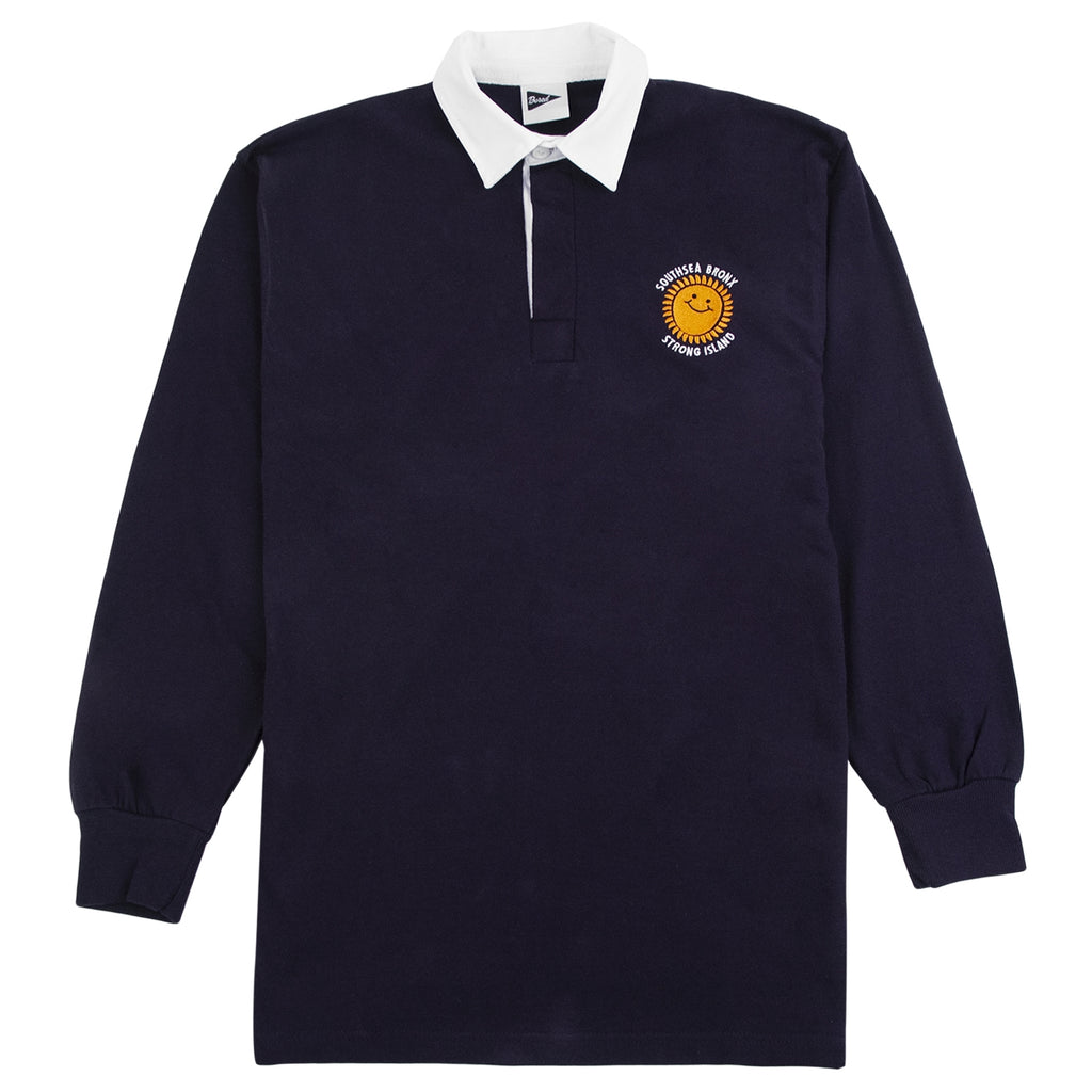 Southsea Bronx Strong Island Rugby Shirt in Navy