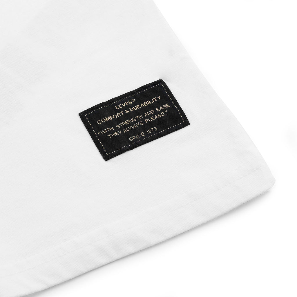 Levis Skateboarding 2 Pack T Shirt in Bright White - Label