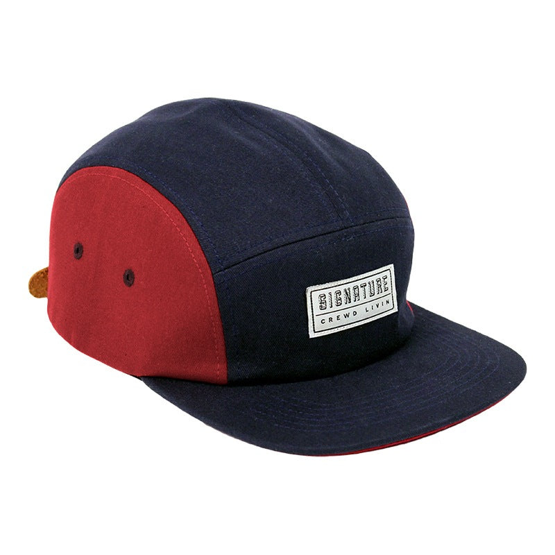 Signature Clothing Primitus 5 Panel Cap in Navy / Blood Red