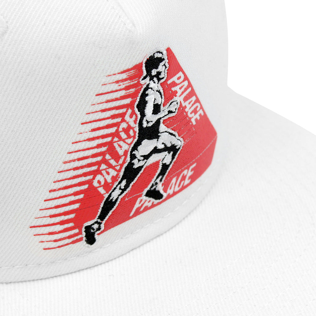 Palace Running Tings Snapback Hat in White - Detail