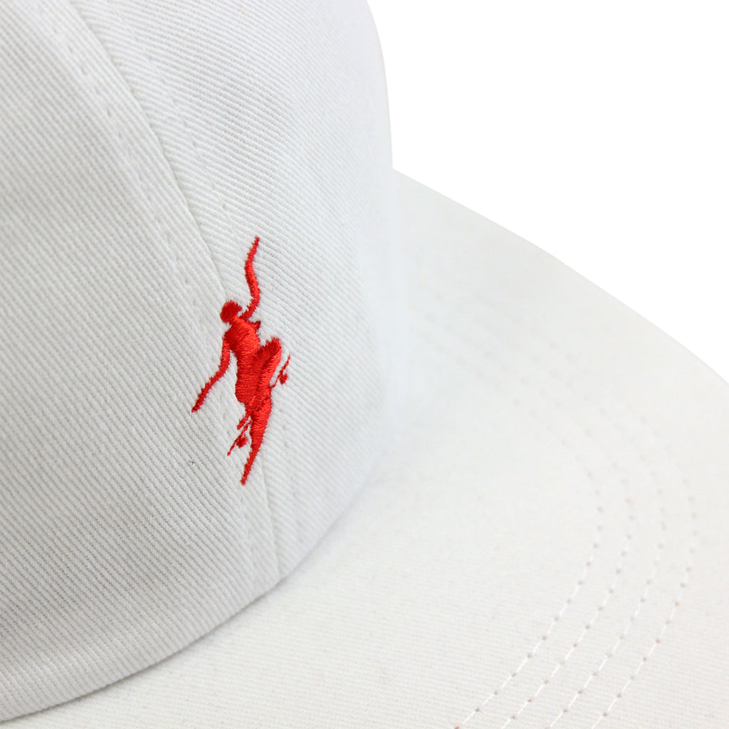 Polar Skate Co No Comply Cap in White / Red - Details