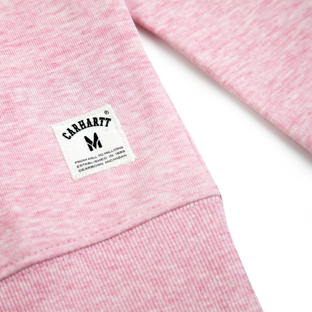Carhartt Holbrook LT Sweatshirt in Vegas Pink Heather - Label