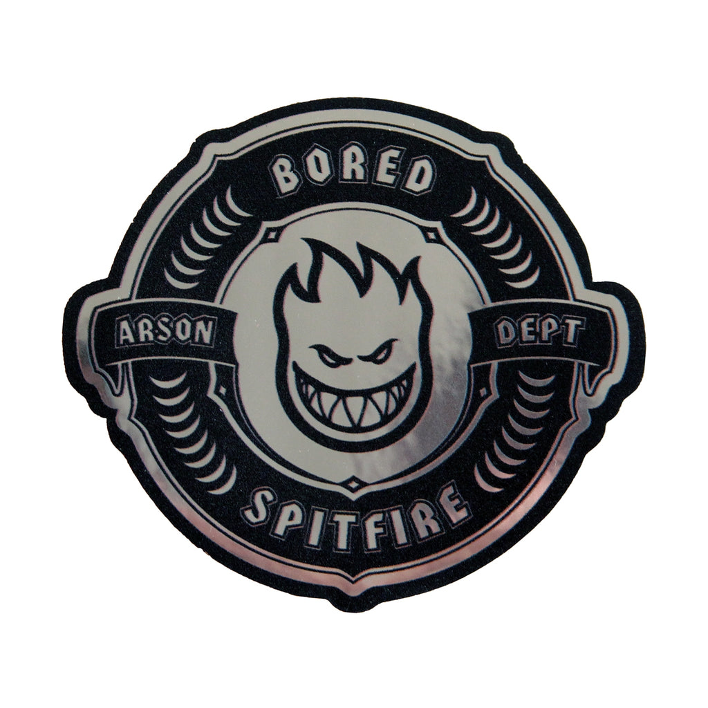 Bored of Southsea x Spitfire Wheels Arson Dept Sticker