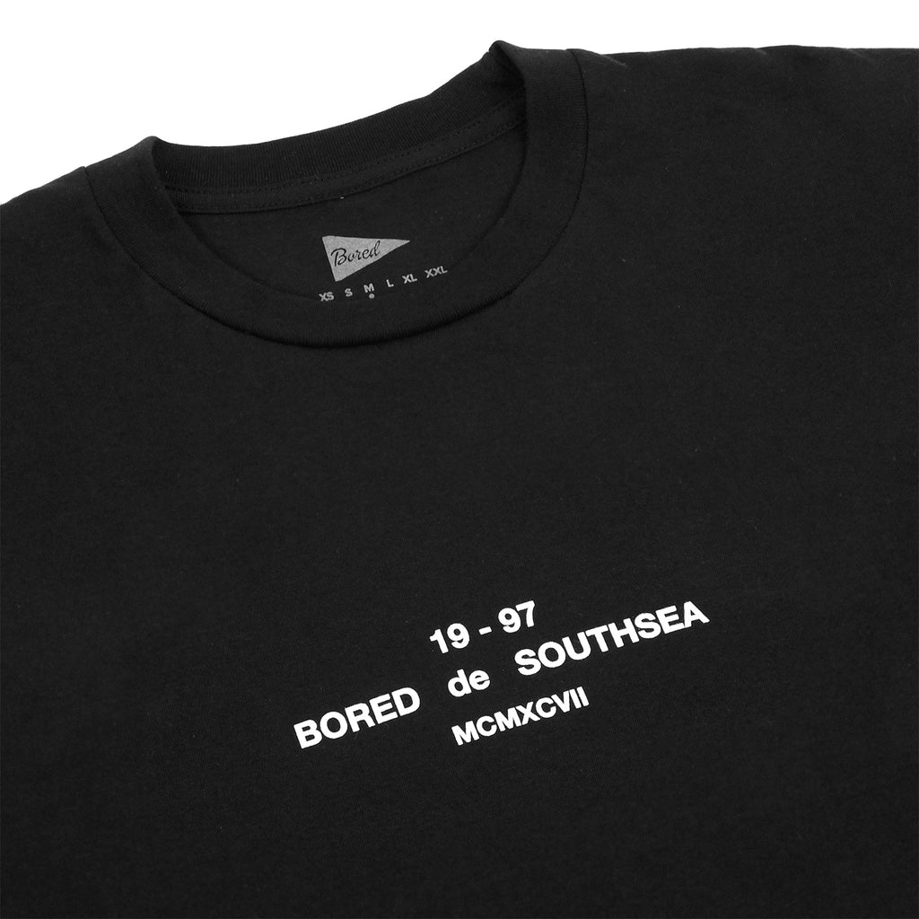 Bored of Southsea BDG T Shirt in Black - Detail
