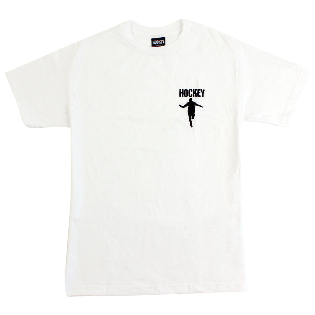 Hockey Skateboards Silhouette Embroidered T Shirt in White