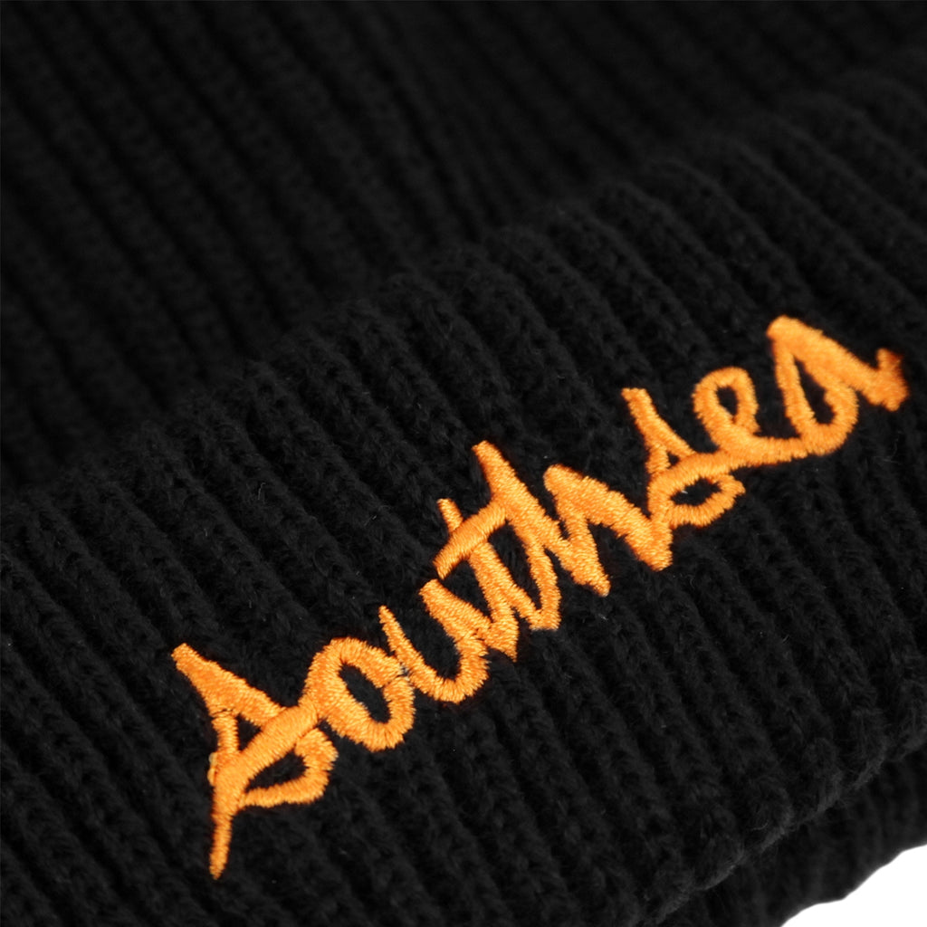 Bored of Southsea x Chocolate Skateboards Chunk The World Beanie in Black - Embroidery