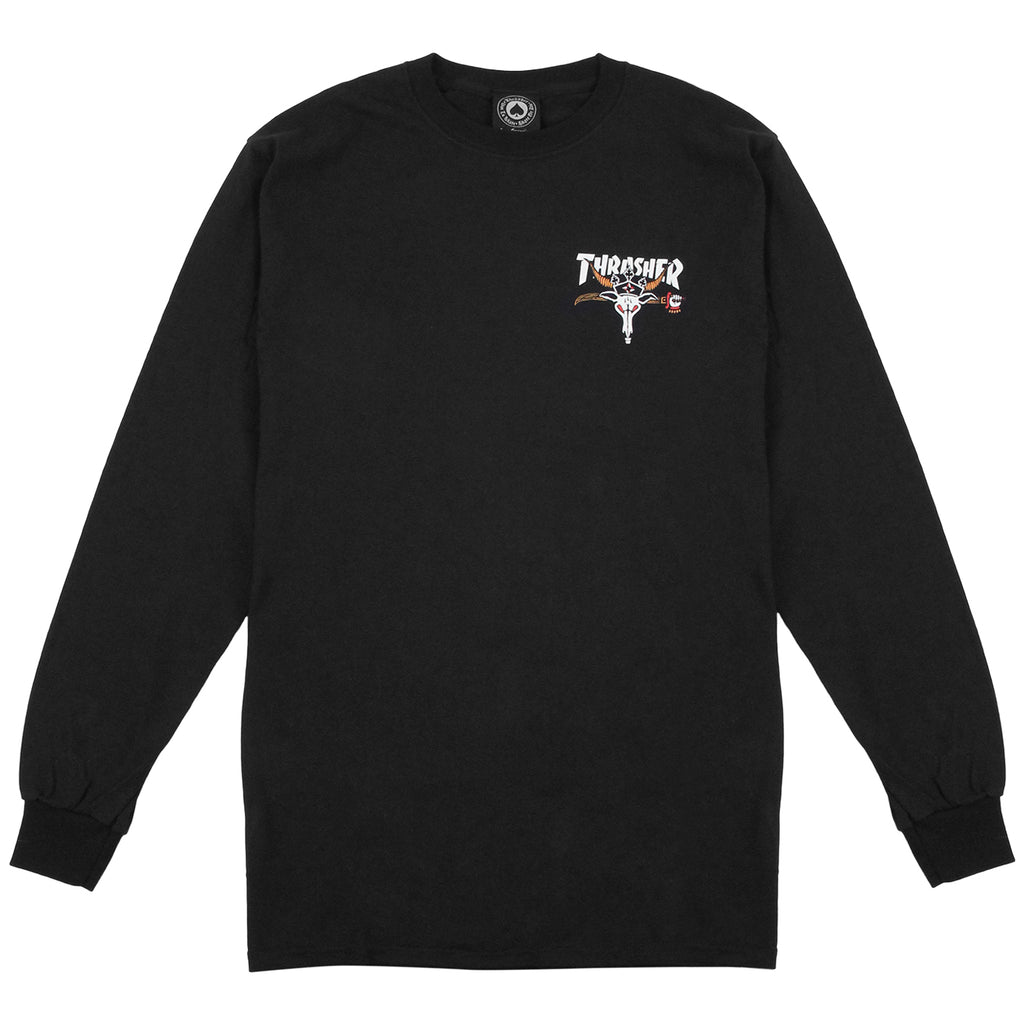 Thrasher King Of Diamonds L/S T Shirt in Black