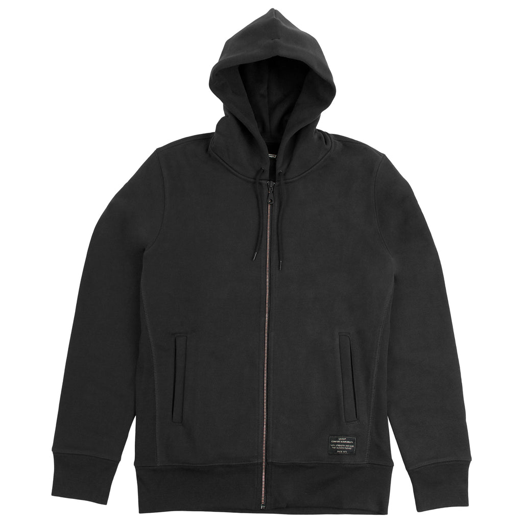 Levis Skateboarding Full Zip Hoodie in Jet Black