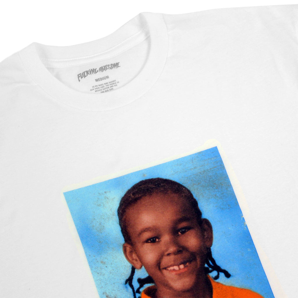 Fucking Awesome Nakel Smith Class Photo T Shirt in White - Detail