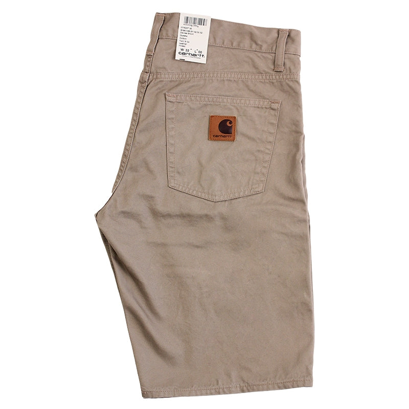 Davies Short in Leather Rinsed by Carhartt