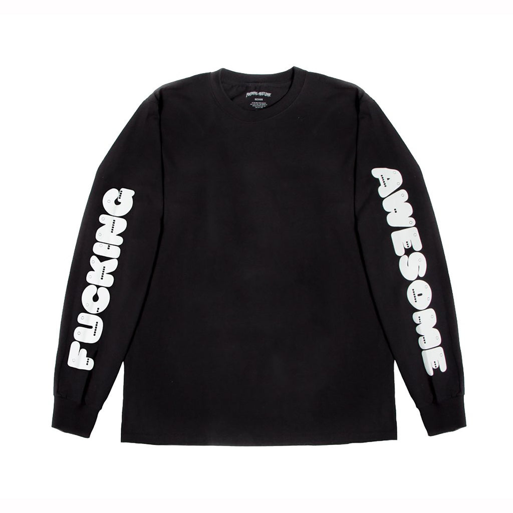 Fucking Awesome Teeth L/S T Shirt in Black