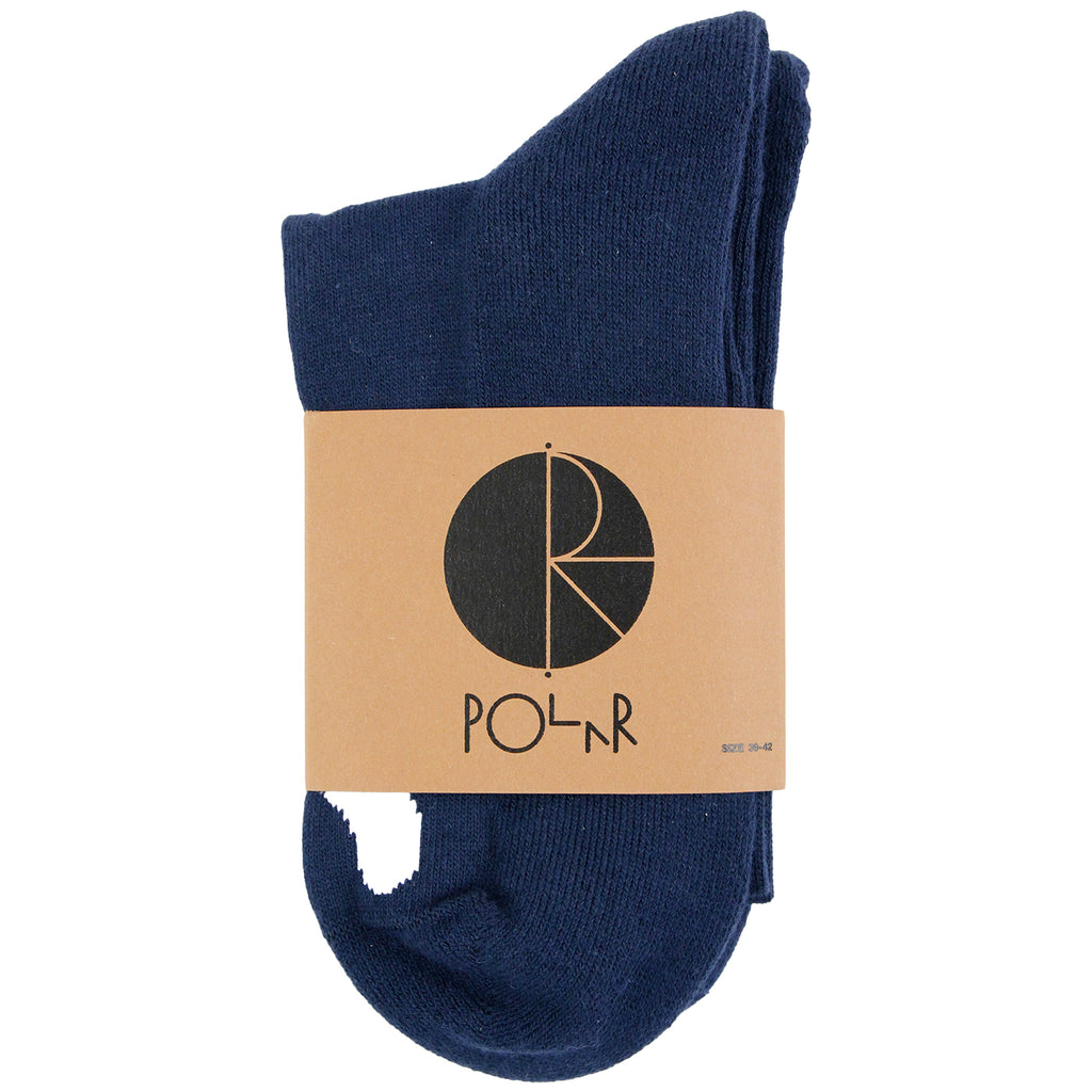 Polar Skate Co Happy Sad Socks in Navy / White