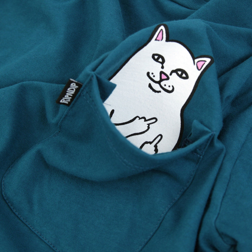 RIPNDIP Lord Nermal Pocket T Shirt in Aqua - Print