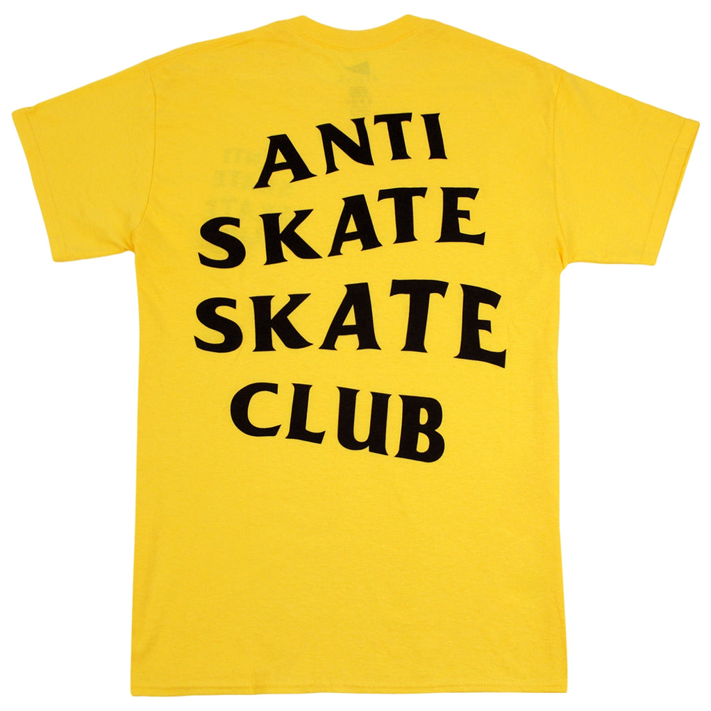 Bored of Southsea Anti Skate Club T Shirt in Yellow - Back