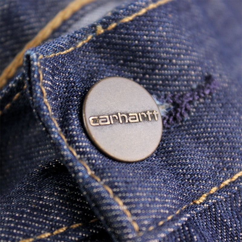 Carhartt WIP Lincoln Simple Pant in Blue / Rinsed - Button