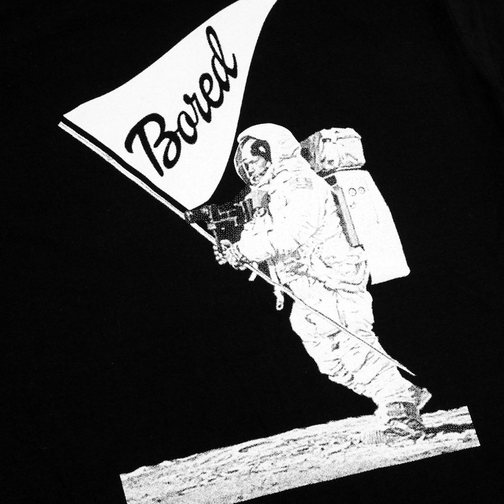 Bored of Southsea Spaceman T Shirt in Black - Back print