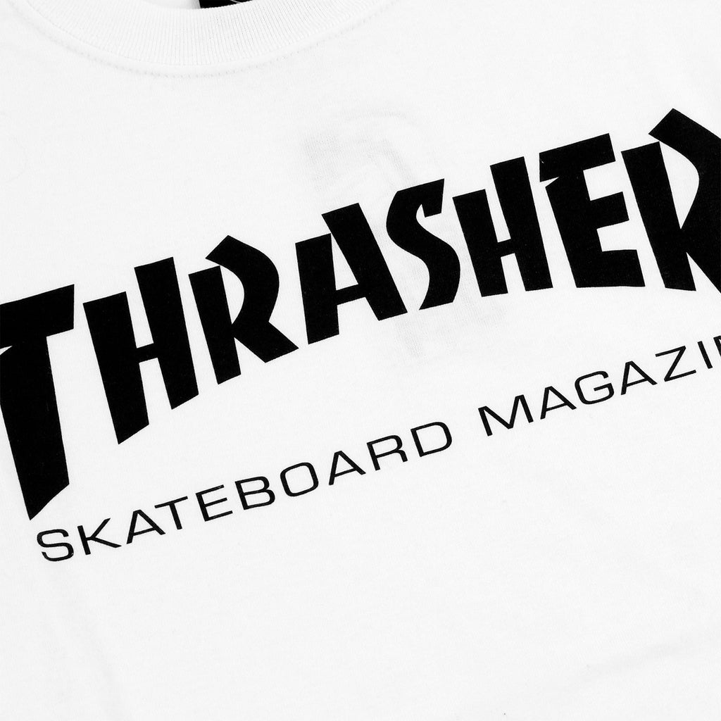 Thrasher Skate Mag Logo T Shirt in White - Print
