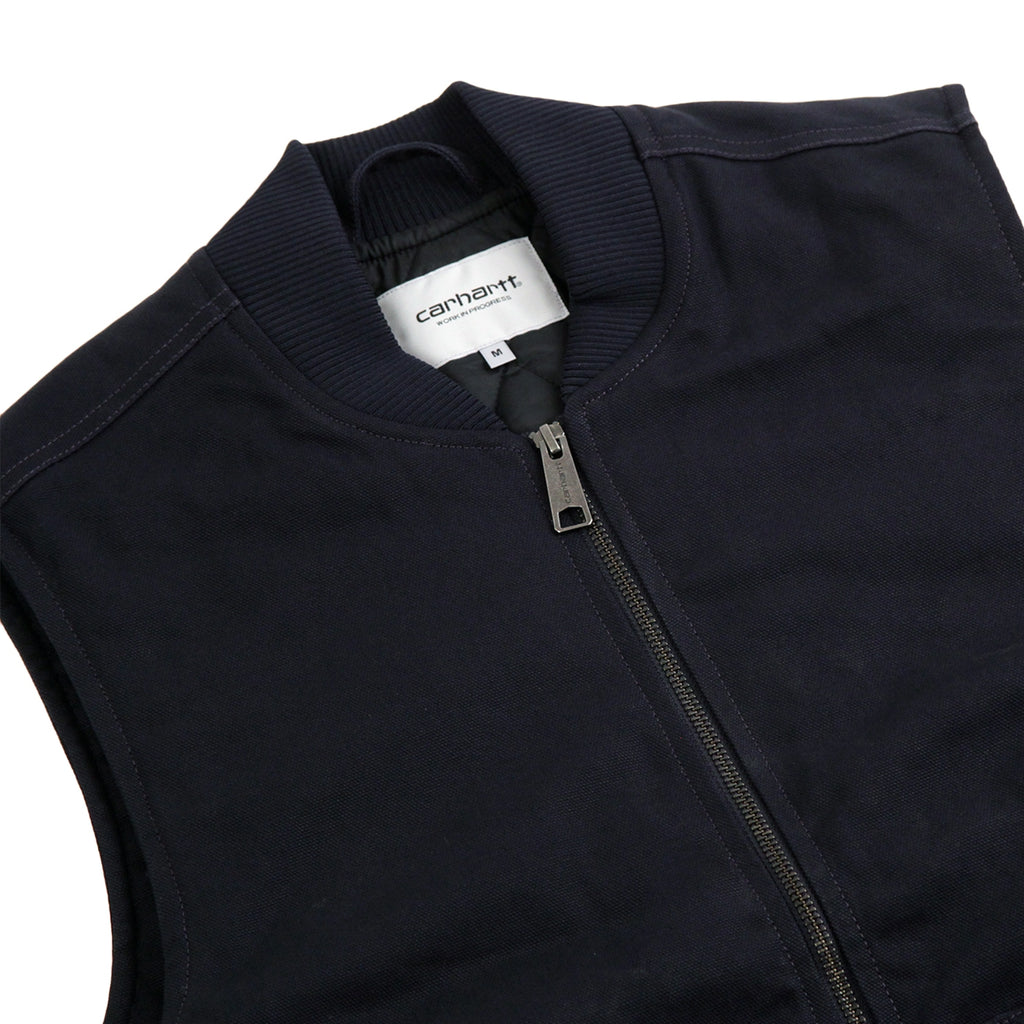 Carhartt Vest in Dark Navy - Detail