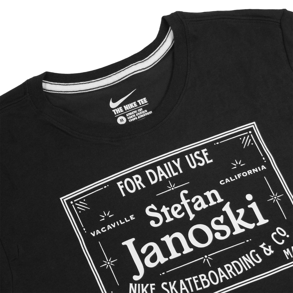 Nike SB Dri-Fit Janoski Label T Shirt in Black / White - Detail