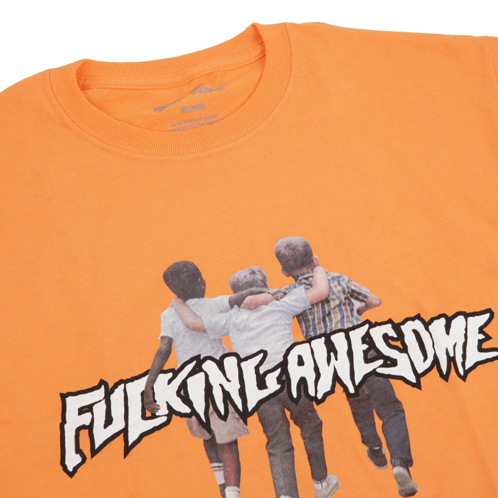 Fucking Awesome Friends T Shirt in Peach - Detail