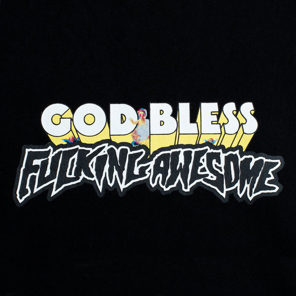 Fucking Awesome God Bless Hoodie in Black - Detail