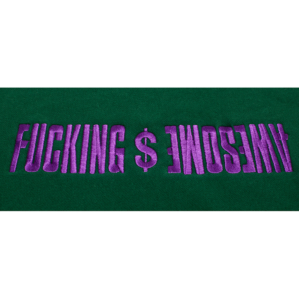 Fucking Awesome GDP Embroidered Hoodie in Green - Embroidery
