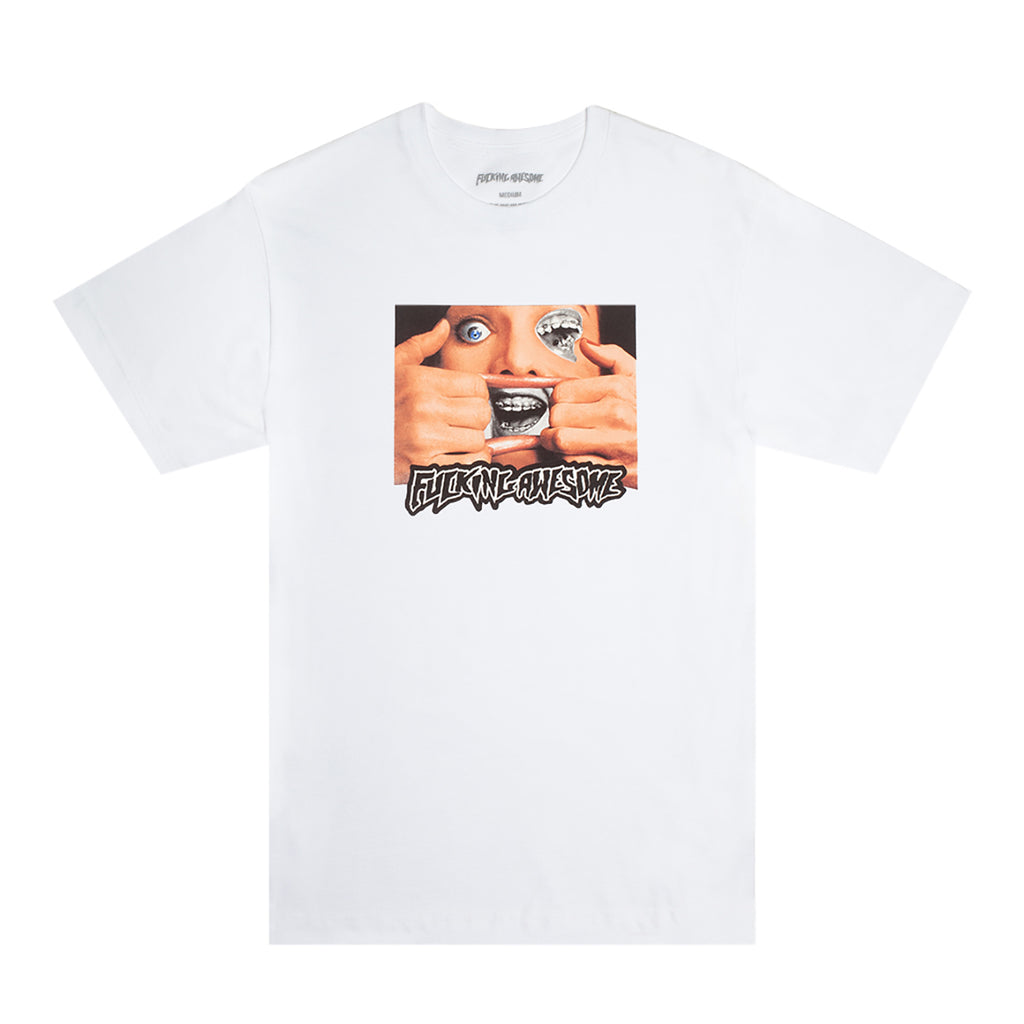 Fucking Awesome Brace Face T Shirt in White