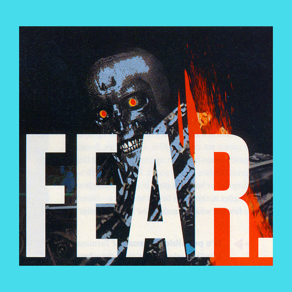Fucking Awesome Fear T Shirt in Tropical Blue - Fear print