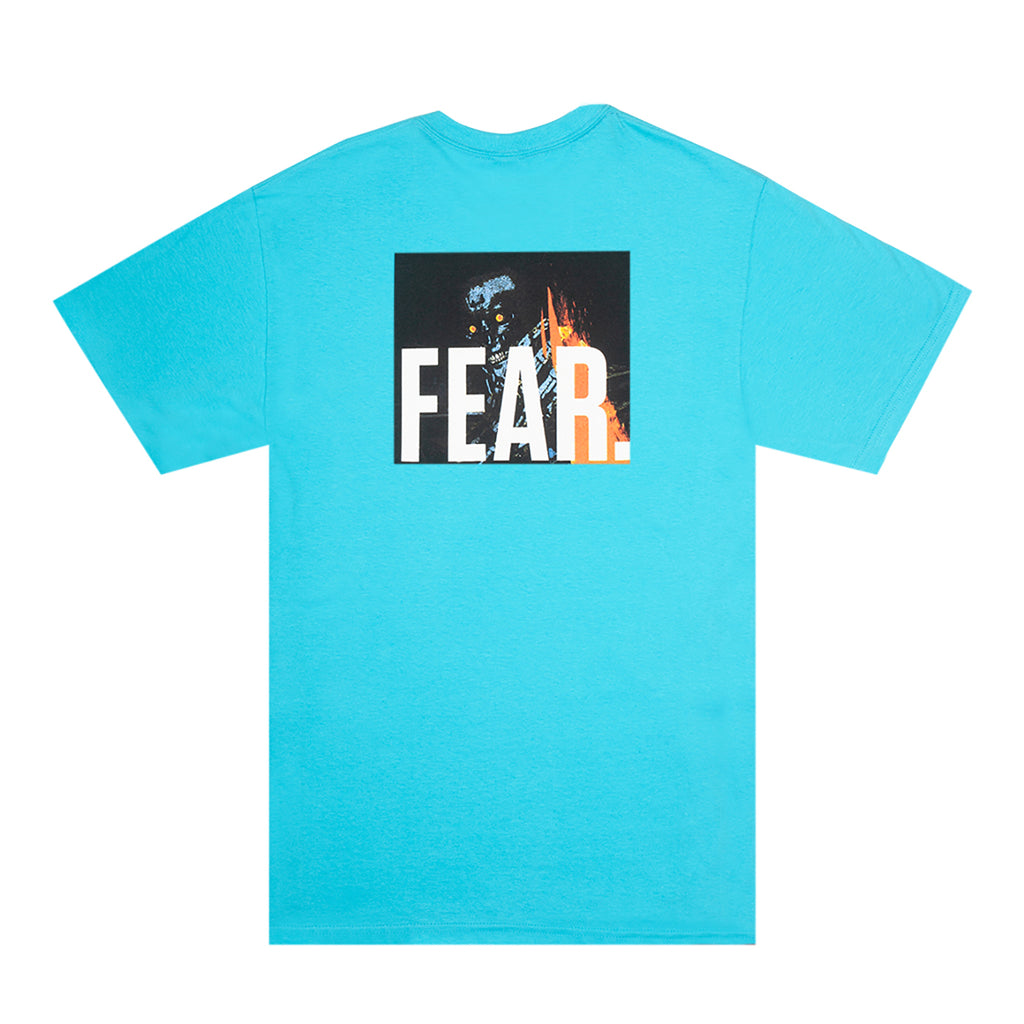 Fucking Awesome Fear T Shirt in Tropical Blue - Back print