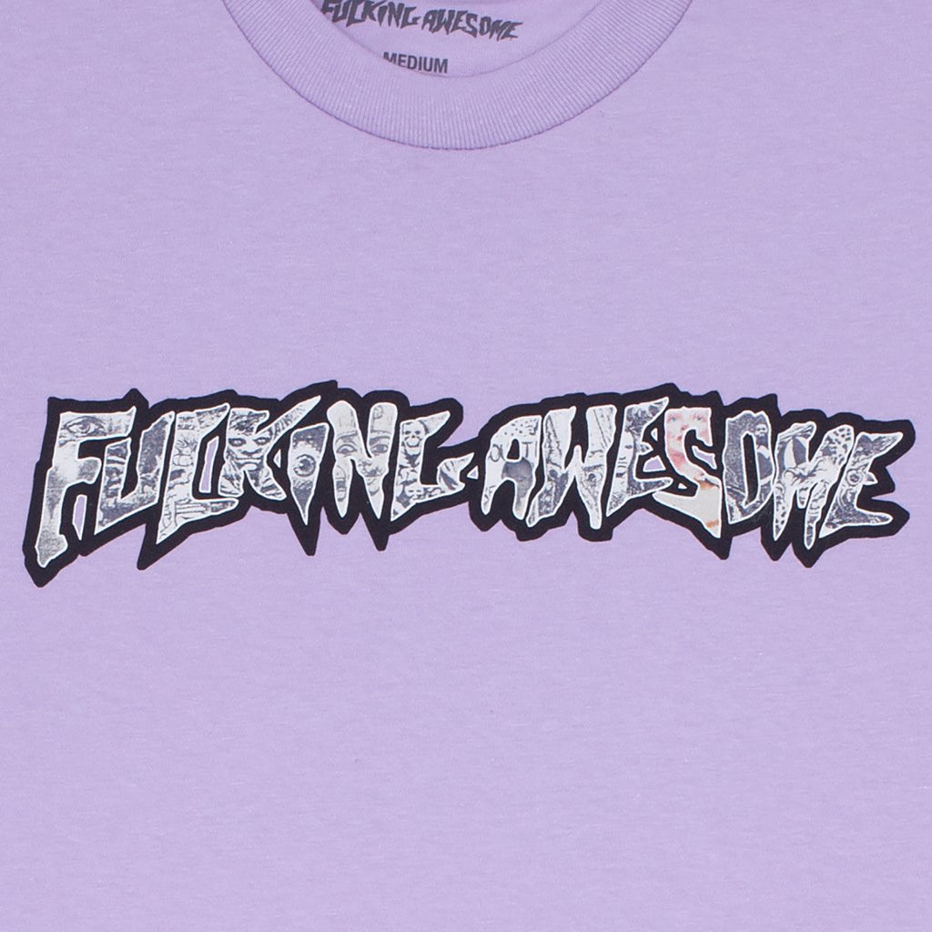 Fucking Awesome Actual Visual Guidance T Shirt in Orchid - Print