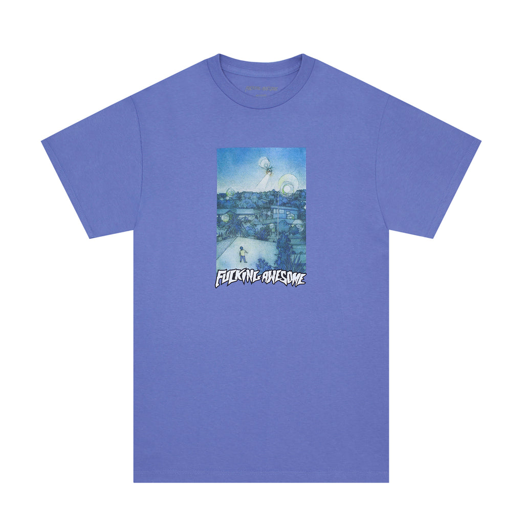 Fucking Awesome Helicopter T Shirt in Violet