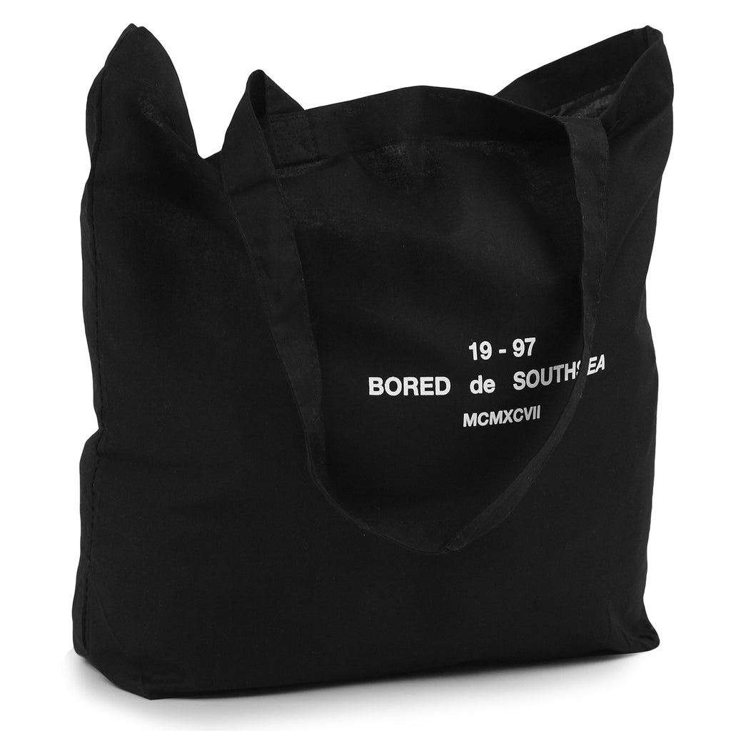 Bored of Southsea BDG Tote Bag in Black - Detail