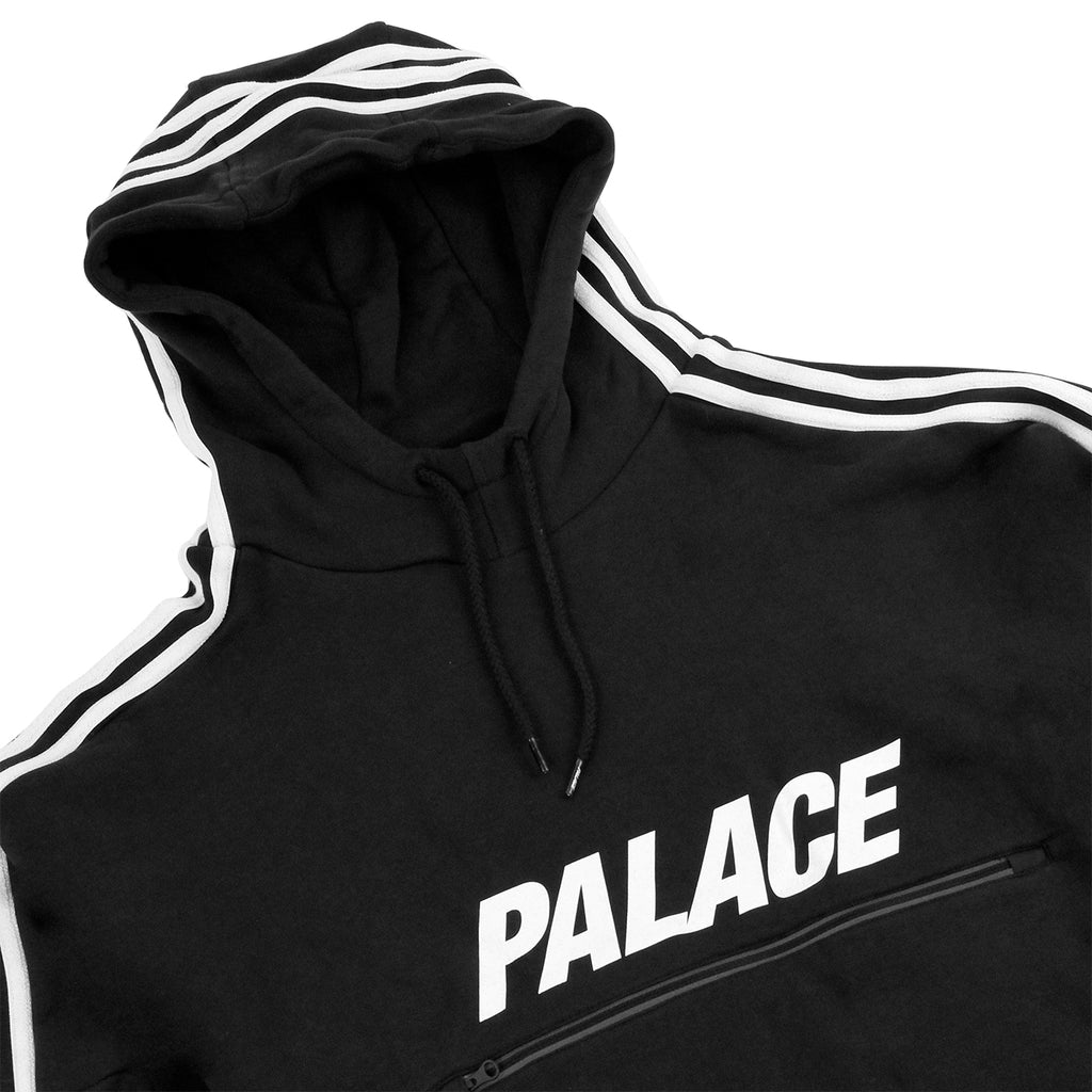 Palace x Adidas Track Top FT in Black / White - Detail