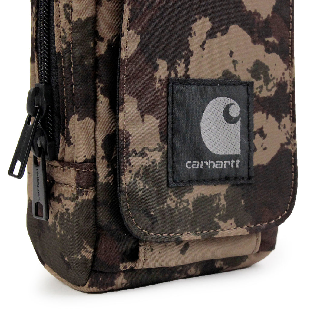 Carhartt Small Bag in Camo Painted Green - Detail