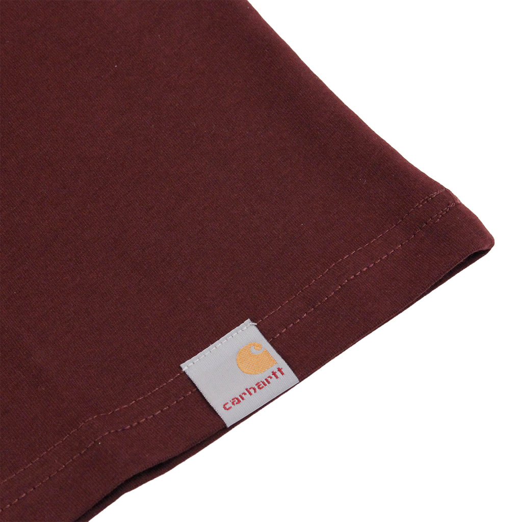 Carhartt Campus T Shirt in Damson / Yellow - Label