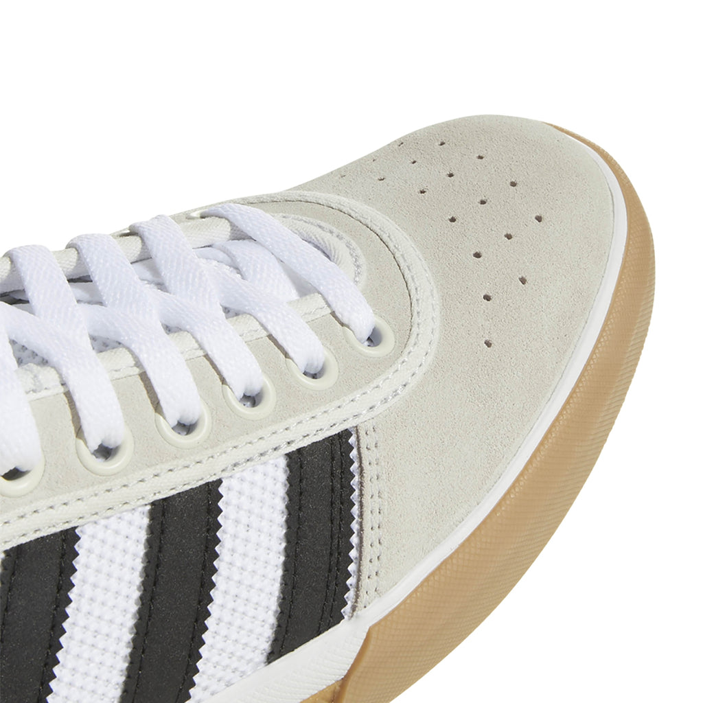 Adidas Lucas Premiere Shoes in Crystal White / Core Black / Gum4 - Toe